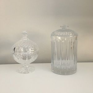 Other - Vintage Glass Apothecary Jars, Set of 2